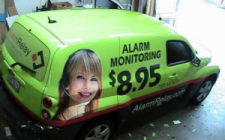 vehicle advertising wrap